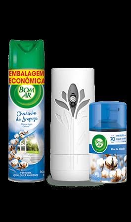 Produtos Bom Ar® com fragrância de linho